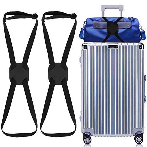 LSYCG Luggage Bungee, 2 Pack Suitcase Bungee - Bag Bungee Luggage Straps Suitcase Adjustable Belt