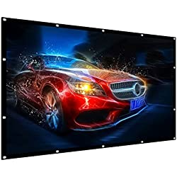 "Projection Screen, 100"" 16:9 HD Outdoor Indoor Portable Folding Movie Screen Support Double Sided Projection for Home Theater Presentation Education Public Display etc"