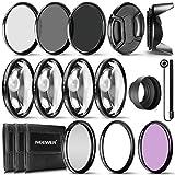 Neewer® 58mm Kit de accesorios de filtro de lente completo para objetivos con 58mm tamaño de filtro: UV, CPL FLD Juego de filtro + Macro Close Up Set (+ 1, + 2, + 4y + 10) + filtro ND set (ND2ND4ND8) + otros