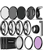 Kit Completo de filtros de Objetivos para Lentes de 58 mm de Neewer® Set de filtros UV CPL FLD + Set de Primer Plano Macro (+1 +2 +4 +10) + Set de filtros ND (ND2 ND4 ND8) + Otros Accesorios