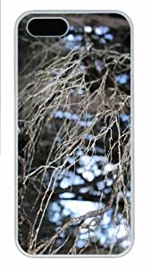 iPhone 5S Case - Customized Unique Design Looking Through New Fashion PC White Hard