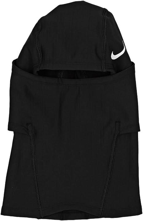 pétalo A veces a veces deficiencia  Amazon.com: Nike Pro Hyperwarm Hood, One Size Fits Most, Adult  (Black/White): Clothing