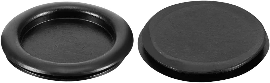 uxcell 20Pcs Black Wire Protector Oil Resistant Armature Rubber Grommets 40mm