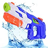 Flyglobal Water Gun Squirt Toy for Kids Adults, 900CC High Capacity Water Blaster Pistol Soaker 30ft Long Range, Summer Toys for Swimming Pools Party Outdoor Beach Sand Water Fighting Blue