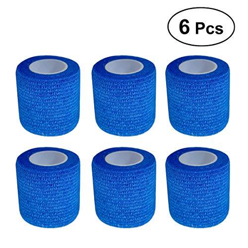 WINOMO テーピングテープ ペットフレックス 粘着性包帯 自己粘着性 ラップ テープ ストレッチ アスレチック 強力弾性 応急処置テープ 7.5cm*4.5m 6本セット(ベージュ)