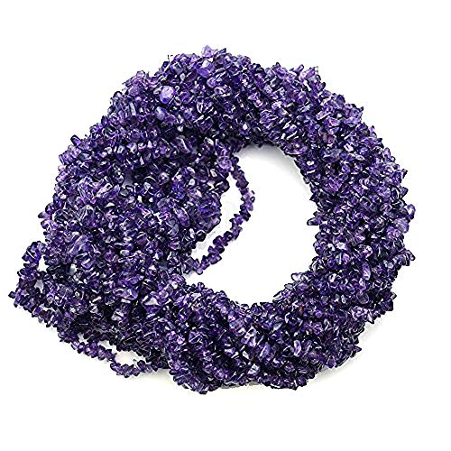 1 Strand (34inches) of Real Natural Amethyst Gemstone Chips Beads. Deep color, wholesale price. Prepared exclusively by - 4 Bracelet Mm Nugget