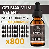 (3 Pack) Organic Hemp Oil Extract - 800,000MG Extra