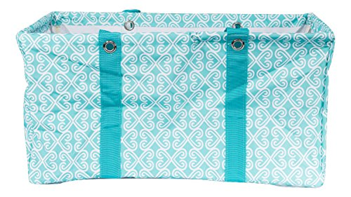 Wireframe All Purpose Large Utility Bag (Turquoise Twist)