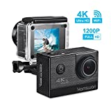 Action Camera, HAMSWAN F68 WiFi Sport Camera 4K HD Waterproof DV Camcorder with 170 Wide-Angle Lens and Rechargeable Battery, Including Full Accessories Kits and Waterproof Case