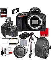 Nikon D5600 DSLR Camera Body Only (No Lens)   Built-in Wi-Fi   24.2 MP CMOS Sensor   SnapBridge Bluetooth Connectivity   Extreme Speed 64GB Memory Card (18pc Bundle)
