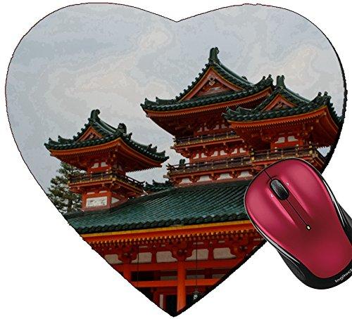 Liili Mousepad Heart Shaped Mouse Pads/Mat ID: 28458790 Heian Shrine in Kyoto - Kyoto Heian In Shrine