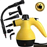 Grandarëk Steamer 1050W Multifunction Multi Purpose Portable Household Steam Cleaner deep Clean and Sanitize You Whole Home W/Attachments 5 nozzles