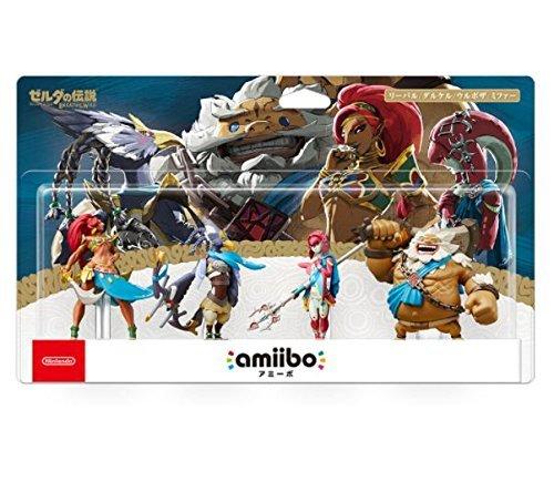 Amiibo Legend Zelda Breath Wild 4 Four Daruk Urbosa Mipha Revali Japan