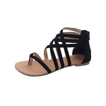 9f69867d9d4f4 Amazon.com  Bohemian Sandals - Anxinke Summer Flat Shoes Sandals for ...