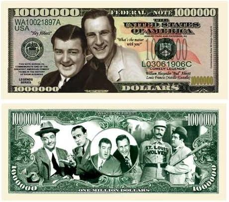 Abbott /& Costello Comedy Legends Million Dollar Novelty Money