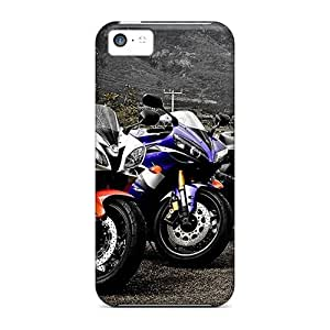 Cute Appearance Cover/tpu Superbikes Case For Iphone 5c