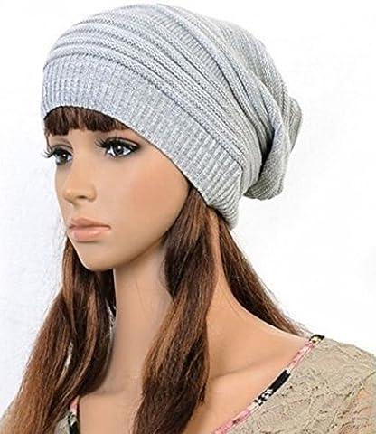 Unisex Women Men Warm Winter Baggy Beanie Knit Crochet Oversized Hat Slouch Cap - Nba Jazz Lamp