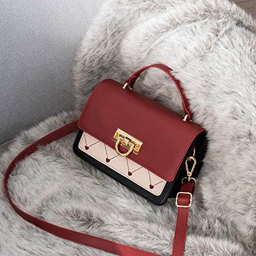 Xmy Female Vintage Simple Bag Messenger Bag Red Wild Brown Lady Simple frFqpf