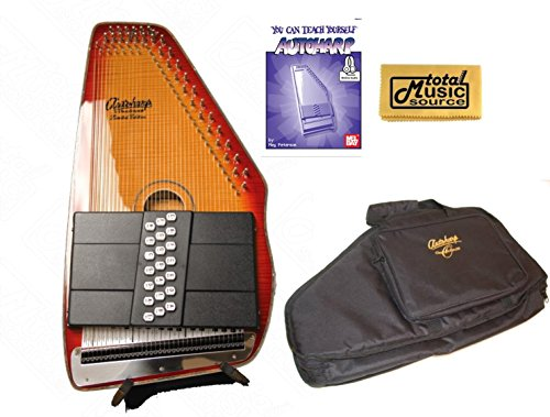 Oscar Schmidt 21 Chord A/E Autoharp, Flame Maple Top, Honey Sunburst OS11021FHSE (Top Honey Maple Sunburst)