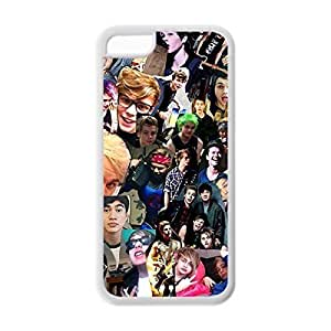 Novel Style Band 5SOS 5 Second of Summer Printed Case Cover for iphone 5c -Soft TPU Back Designer Case Protector White 022705