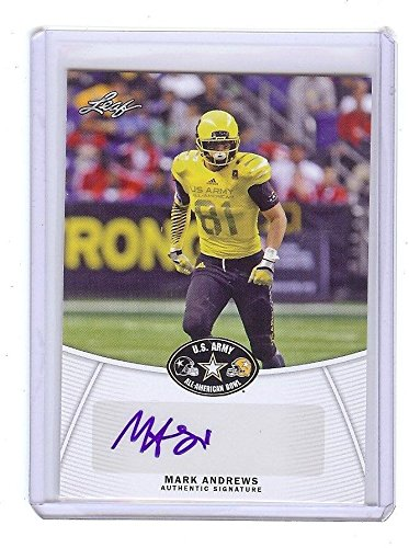 MARK ANDREWS - Oklahoma Sooners 2014 Leaf Army Certified AUTOGRAPH RC from Leaf