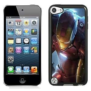 NEW Unique Custom Designed iPod Touch 5 Phone Case With Iron Man Illustration_Black Phone Case Kimberly Kurzendoerfer