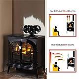 CRSURE Wood Stove Fan, 8 Blade Fireplace Fan, Heat