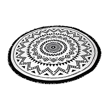 SwimZip Round Beach Towel Black Sand Beach