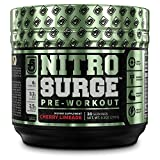 NITROSURGE Pre Workout Supplement - Endless Energy, More Strength, Sharp Focus, & Intense Pumps - Nitric Oxide Booster & Preworkout Energy Powder - 30 Serving, Cherry Limeaide ( 9.5 oz)