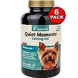 6 PACK NaturVet Quiet Moments Calming Aid Plus Melatonin (360 Tabs)