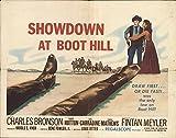 "Showdown at Boot Hill 1958 Authentic 22"" x 28"" Original Movie Poster Charles Bronson Western U.S. Half Sheet"