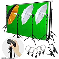 LINCO Lincostore Lighting Photo Light Softbox Backdrop Stand Muslin Kit AM135