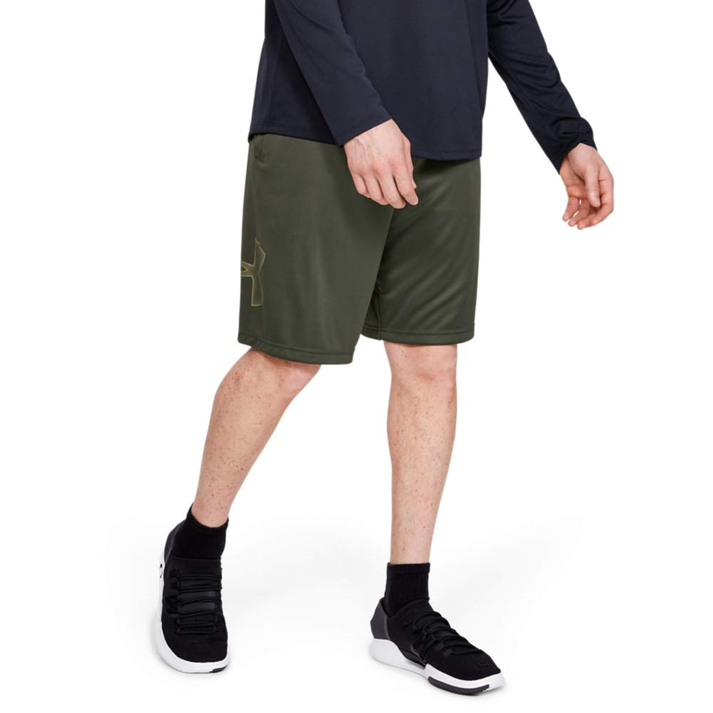 Under Armour Men's Tech Graphic Shorts , Baroque Green (310)/Outpost Green, Large by Under Armour