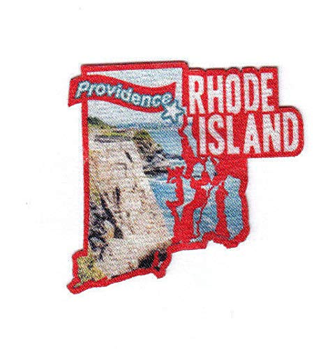 (PROVIDENCE RHODE ISLAND State Shape Capitol City Iron On Printed Patch)