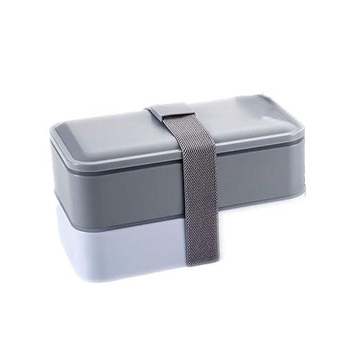 Fiambrera de doble capa con cuenco de sopa portátil y ...