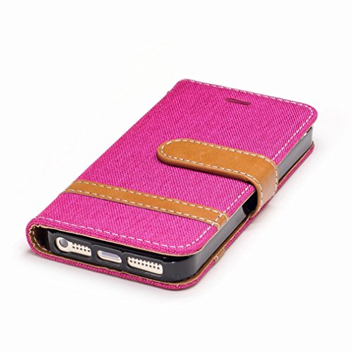 Yiizy Apple IPhone 5 / IPhone 5s / IPhone SE Cover Custodia, Modello Del Cowboy Design Silicone Custodia Flip Cover Portafoglio PU Pelle Cuoio Copertura Case Slot Schede Cavalletto Stile Libro Bumper