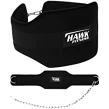 Hawk Fitness Weight Lifting Dipping Belt With Chain Dip Belt Pull Up Belt Training Bodybuilding Crossfit 1 YEAR WARRANTY!!!!