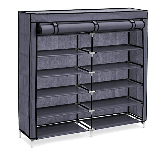 Best Choice Products 6-Tier 36-Shoe Portable Home Shoe Storage Rack Closet Organization System w/Fabric Cover - - Rack Storage Home