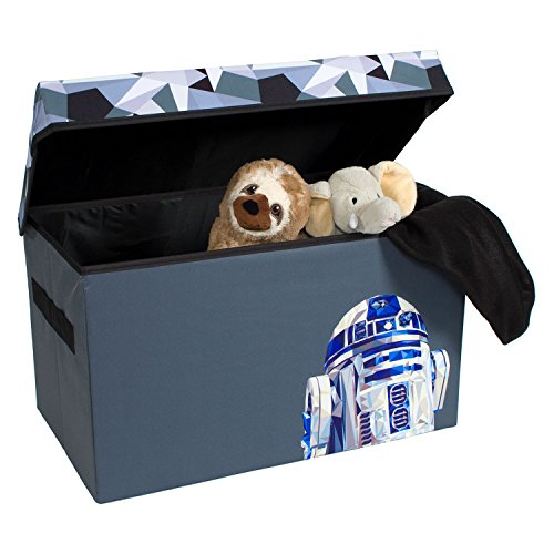 R2-D2 Collapsible KidsToy Storage Chest byDisney Star Wars - Flip-Top Toy Organizer Bin for Closets, Kids Bedroom, Boys & Girls Toys - Foldable Toy Basket Organizer with Strong Handles & Design by Everything Mary
