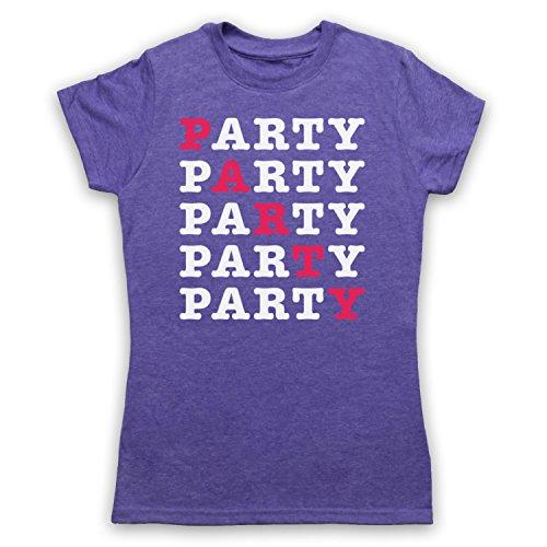 PARTY Hipster Camiseta para Mujer Morado Clásico