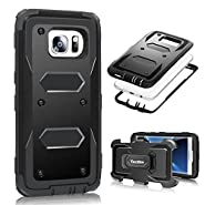 S7 Edge Case, Galaxy S7 Edge Case - YOKIRIN 3 in 1 Design [Heavy Duty] Rugged Holster [Kickstand][Belt Swivel Clip] Case for Samsung Galaxy S7 Edge