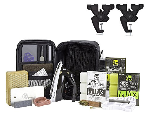 Demon Podium Ski Snowboard Tune Kit w/ Iron, Premium Universal Wax Kit 399 grams, VISE, Waxing Apron & Base (Ski Snowboard Waxing Iron)