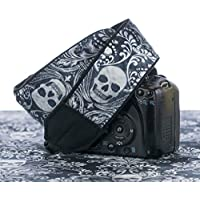 Damask Skull Camera Strap, For dSLR, SLR or Mirrorless Cameras, 266