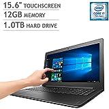 """2017 New Lenovo IdeaPad 310 Laptop 15.6"""" Touchscreen, Intel Core i7-7500U, 12GB DDR4, 1TB HDD, DVD-RW, 802.11AC Wi-Fi, Bluetooth, HDMI, Webcam, USB 3.0, Ethernet, Win 10"""