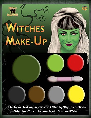Halloween Make Up Kits Zombie Vampire Devil Complete Make Up Sets in One Listing (Witch Multi Pallet Makeup) by B&S Trendz