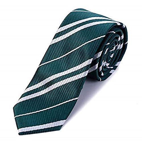 Kiwi Power School Tie Cosplay Party for Harry Potter Costume Accessory Halloween Party Slytherin (Green) -