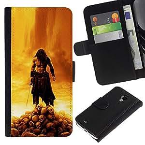 NEECELL GIFT forCITY // Billetera de cuero Caso Cubierta de protección Carcasa / Leather Wallet Case for Samsung Galaxy S4 Mini i9190 // BARBARIAN GUERRA Jehová