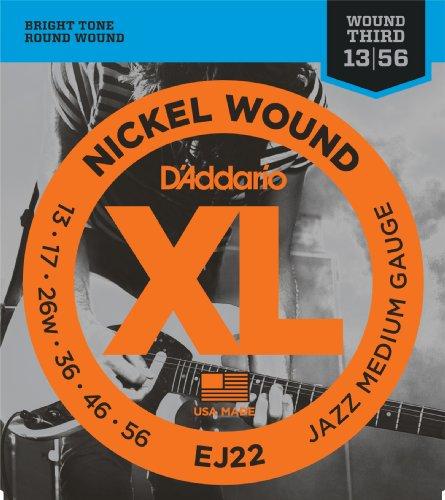 D'Addario EJ22 Nickel Wound Electric Guitar Strings, Jazz Me