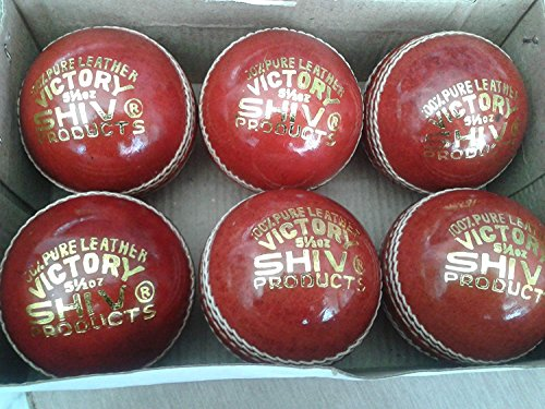 12XBALLS HAND STICHED LEATHER 4 CUT SHIV BAT FRIENDLY (TESTED GRADE)CRICKET BALL ''Expedited International Delivery By USPS / DHL'' by ANMOL COLLECTIONS