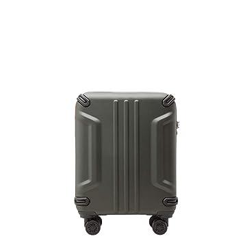 PACO MARTINEZ | Maleta de Cabina Adventure TSA 4 Ruedas Verde Militar | ABS y Aluminio |55x40x20 |Equipaje de Mano Aventura